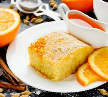 Ekspresowy placek na soku pomarańczowym