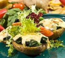 Wyborne ziemniaki nadziewane szpinakiem