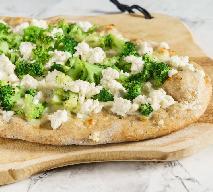 Lekka, domowa pizza z brokułami i kalafiorem
