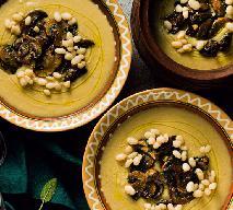 Kremowa zupa z białej fasoli i pieczarek: pożywna i pyszna