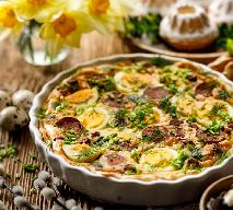 Tarta z jajkami i białą kiełbasą: sprytny sposób na poświąteczne nadwyżki