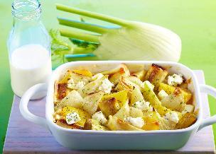 Zapiekanka z warzyw gotowanych w lekkim sosie - pyszna i pożywna